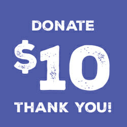 $ 10 Donation Graphic