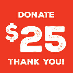 $ 25 Donation Graphic